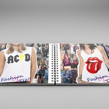 Projeto gráfico para empresa Miss Tees Couture. Design, diagramação e manipulação de imagens.