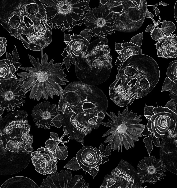Skull Flowers Padrão